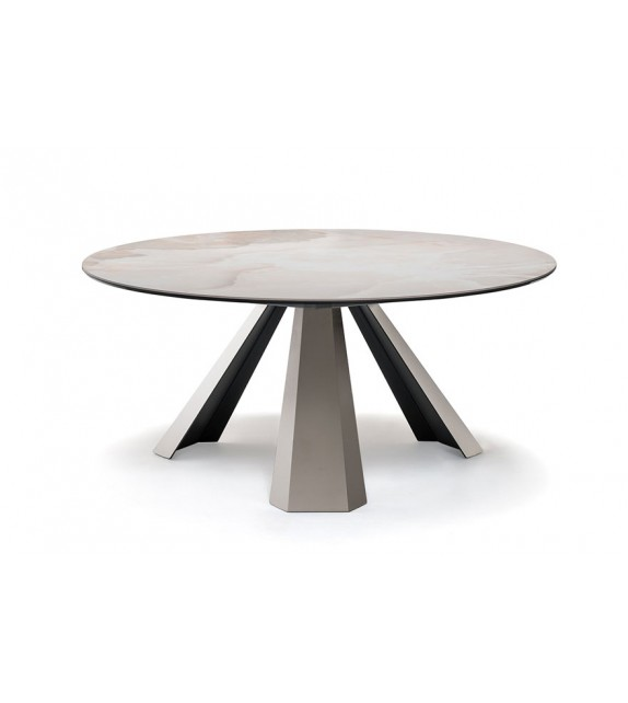 Eliot Keramik Round - Dining Table by Cattelan Italia