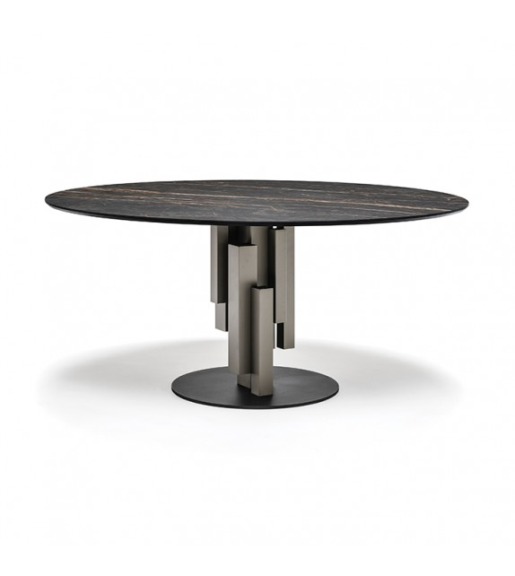 Skyline Keramik Round - Dining Table by Cattelan Italia