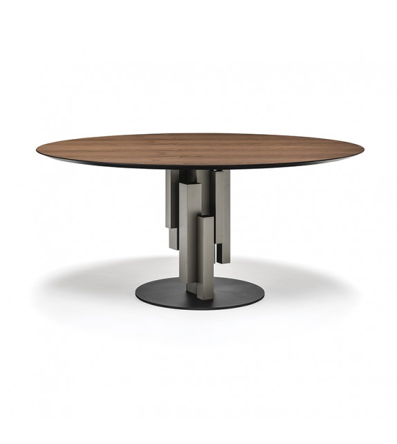 Skyline Wood Round - Dining Table by Cattelan Italia