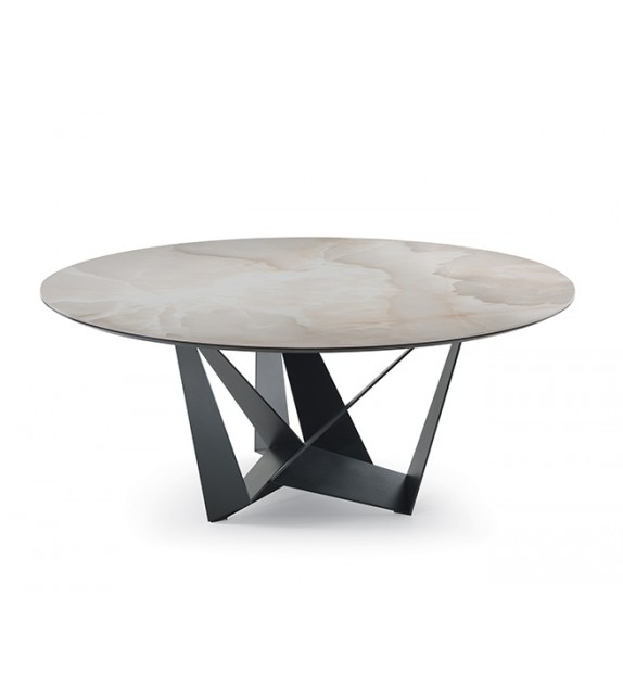 Skorpio Keramik Round - Dining Table by Cattelan Italia